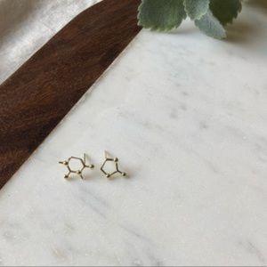 Jewelry - Caffeine Molecule Coffee Stud Earrings
